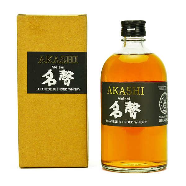 White Oak Distillery Whisky japonnais Akashi Meïsei 40% - Bouteille 50cl + étui