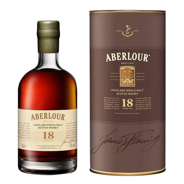 Aberlour Distillery Whisky Aberlour 18 ans highland single malt (50cl) - Bouteille 50cl + étui