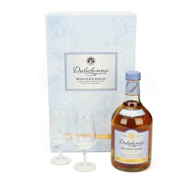 Dalwhinnie Whisky Dalwhinnie winter's gold - coffret 2 verres 43% - Bouteille + 2 verres