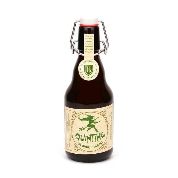 Brasserie des Légendes Quintine bière belge blonde 8% - Lot de 3 bouteilles 33cl