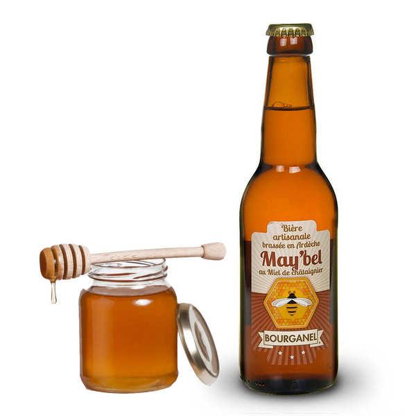 Brasserie Bourganel May'bel - Bière au miel de châtaignier d'Ardèche 5% - 24 bouteilles de 33cl