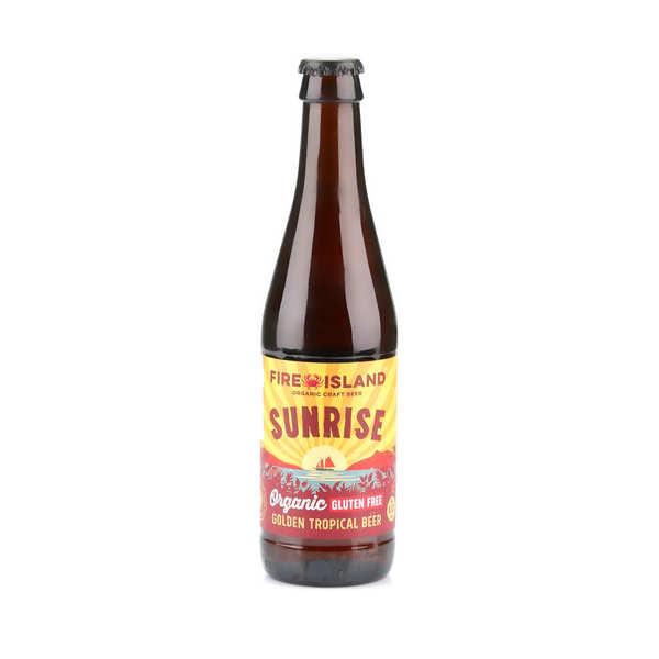Fire Island Organic Craft Beer Sunrise - bière blonde du Pays de Galles bio et sans gluten 4,4% - Bouteille 33cl