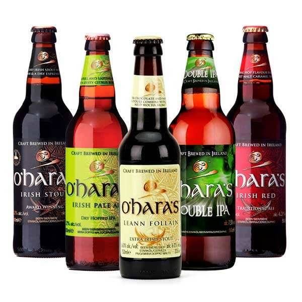 Carlow Brewing Company Assortiment de 10 bières irlandaises O'Hara's - 10 bouteilles de 33cl