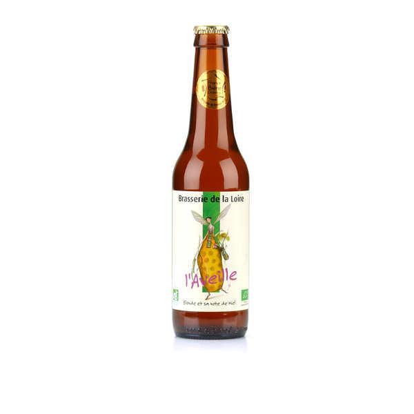 Brasserie de la Loire L'Aveille - bière blonde au miel bio 5% - Bouteille 33cL