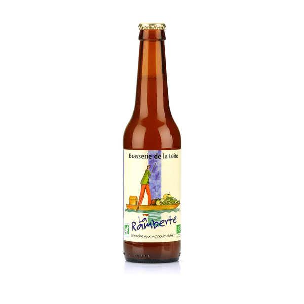 Brasserie de la Loire La Ramberte - bière blanche à la pomme bio 4.4% - Bouteille 33cl