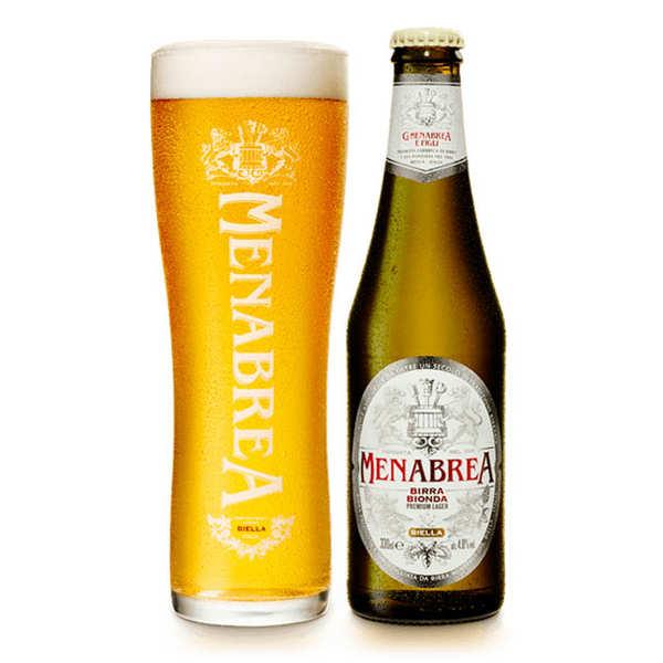 Menabrea Bionda - Bière blonde d'Italie 4.8% - 6 Bouteilles de 33cl