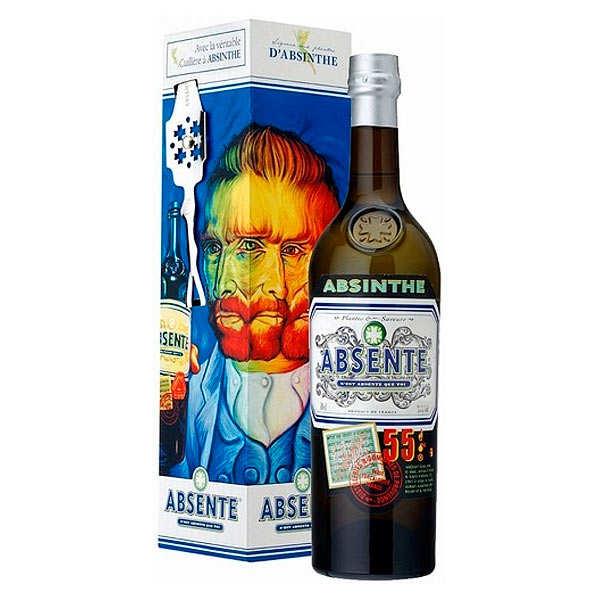 Distilleries et Domaines de Provence Absente 55° et sa cuillère - Spiritueux aux plantes d'absinthe 55% - Bouteille 70cl + 1 cuillère