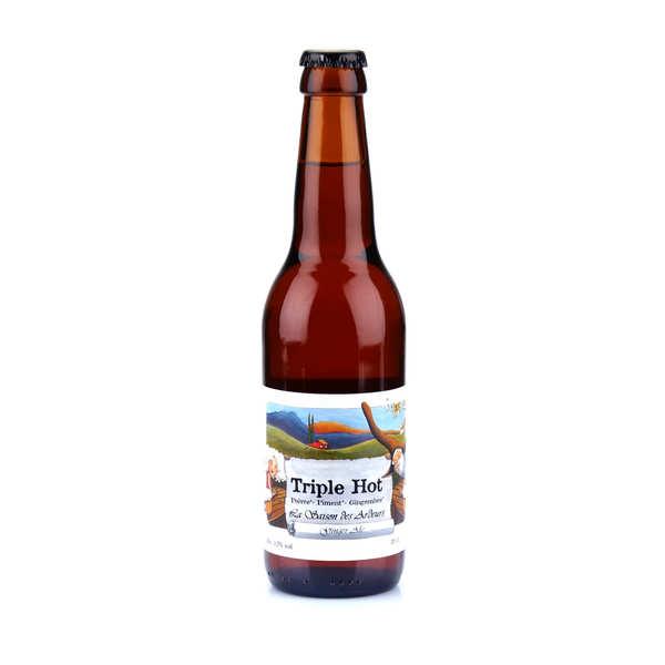 Brasserie des Garrigues La Triple Hot - bière bio épicée gingembre piment poivre 5.9% - 24 bouteilles de 33cl