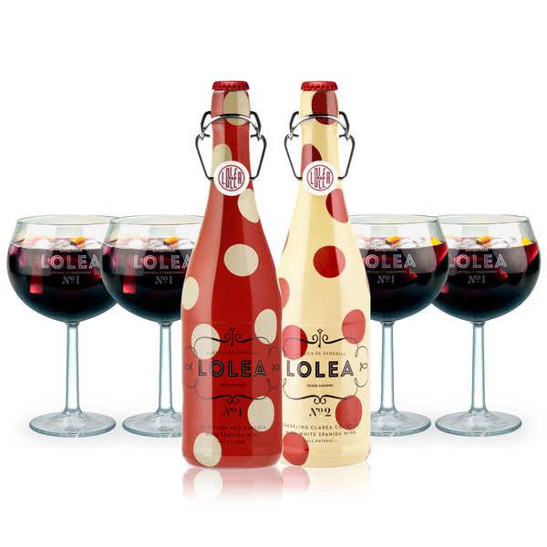 Lolea Assortiment découverte des sangrias Lolea - 2 bouteilles de 75cl + 4 verres à ballon