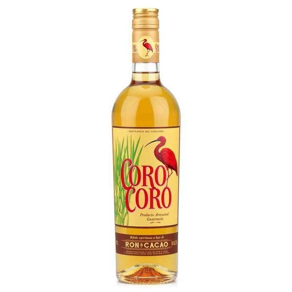 Les Bienheureux Rhum du Guatemala au cacao - Coro Coro 30% - Bouteille 70cl