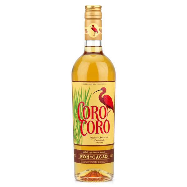 Les Bienheureux Rhum du Guatemala au cacao - Coro Coro 30% - Lot de 3 bouteilles 70cl