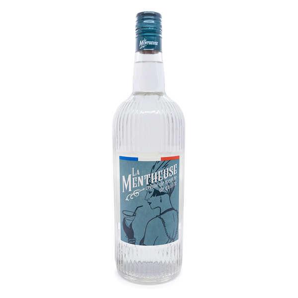 La Mentheuse Crème de menthe - La Mentheuse 15% - Lot de 4 bouteilles 1L