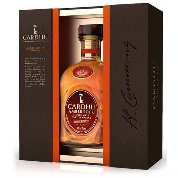 Cardhu Amber Rock 40% - Coffret whisky 2 verres - Bouteille 70cl + 2 verres