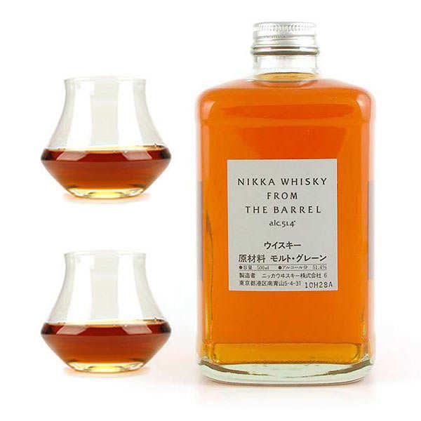 Whisky Nikka from the barrel 51,4% et ses 2 verres de dégustation - 1 bouteille de 50cl et 2 verres