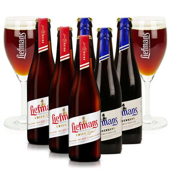 Brasserie Liefmans Assortiment 6 bières Liefmans et 2 verres de dégustation - 6 bouteilles de 33cl + 2 verres