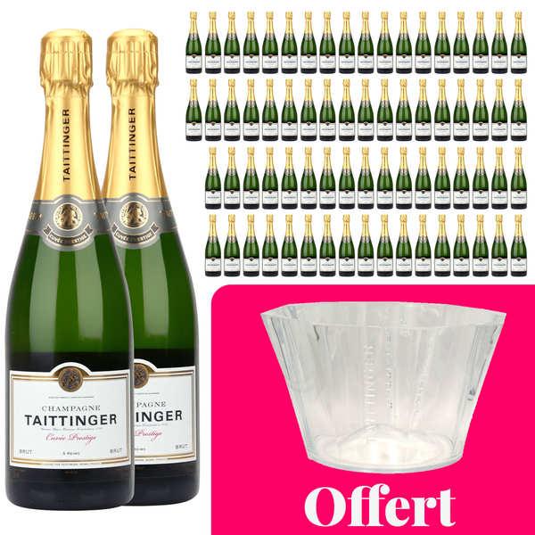 Champagne Taittinger 72 bouteilles Champagne Taittinger Brut Prestige et 1 vasque offerte - 72 bouteilles de 75cl + 1 vasque offerte
