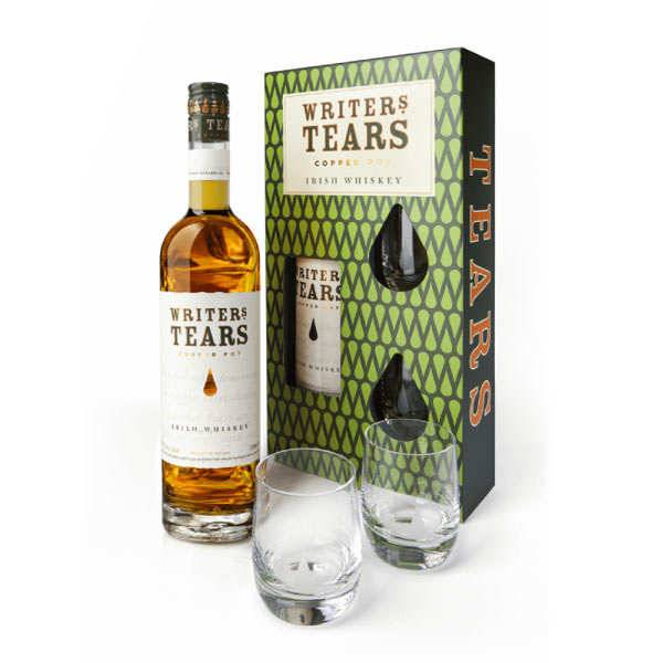 Writer's Tears Whisky Writer's Tears Copper Pot - Coffret 2 verres -  40% - Bouteille 70cl + 2 verres