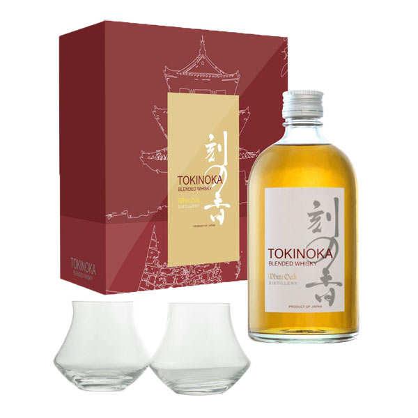 Tokinoka Whisky Tokinoka - Coffret 2 verres warm -  40% - Bouteille 50cl + 2 verres