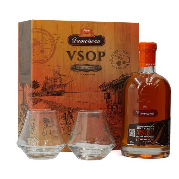 Damoiseau Rhum Damoiseau VSOP - Coffret 2 verres -  42% - Bouteille 70cl + 2 verres