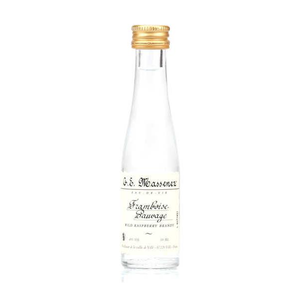 G. E. Massenez Mignonnette d'eau de vie framboise sauvage 40% - Bouteille 3cl