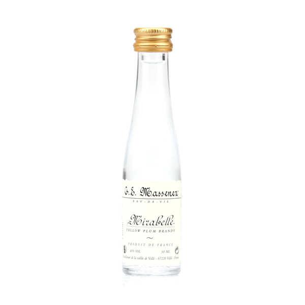 G. E. Massenez Mignonnette d'eau de vie mirabelle 40% - Lot 15 bouteilles 3cl