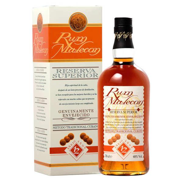 Rum Malecon Malecon 12 ans Reserva superior - Rhum du Panama 40% - Bouteille 70cl