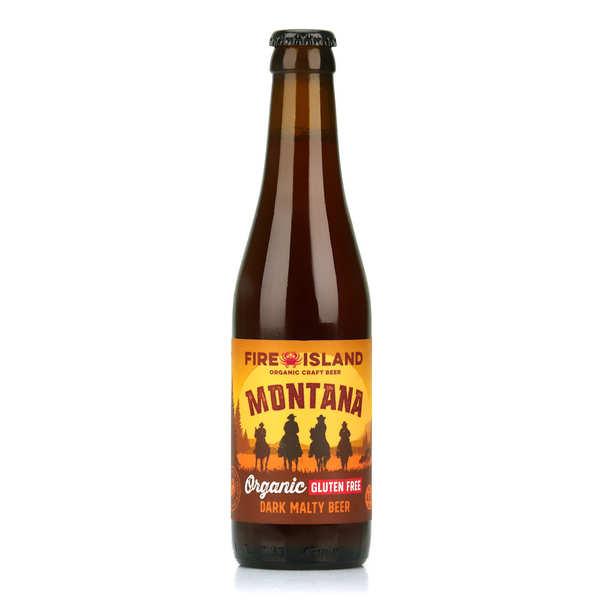 Fire Island Organic Craft Beer Montana - Bière ambrée du Pays de Galles bio et sans gluten 4.6% - Bouteille 33cl