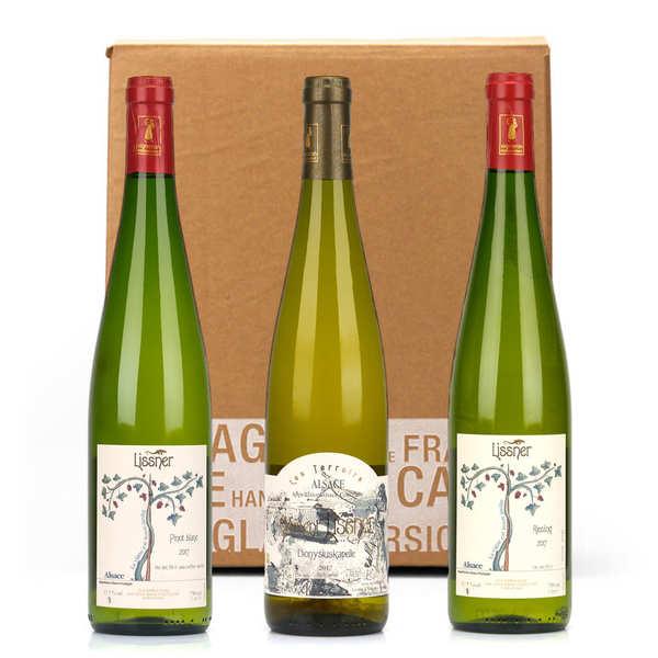 Lissner Box 3 vins d'Alsace bio et sans sulfites - 3 bouteilles de 75cl