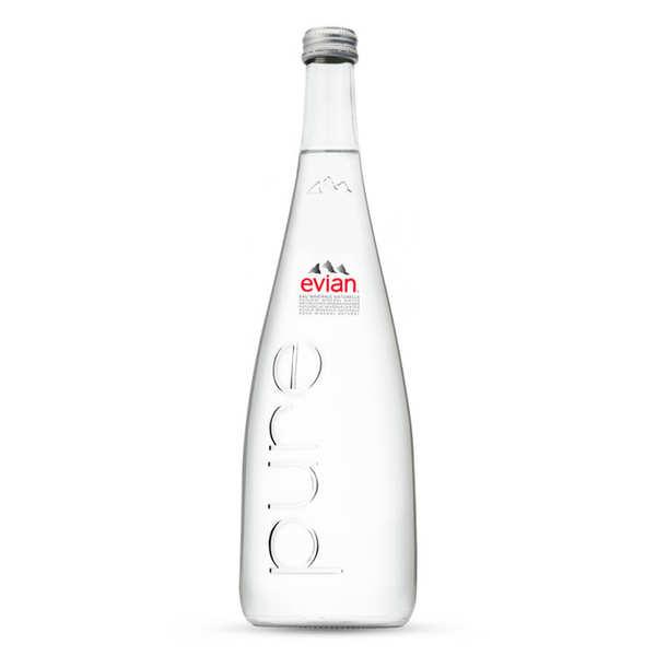 Evian Pure Gamme Prestige - Eau plate des Alpes - Bouteille verre 75cl