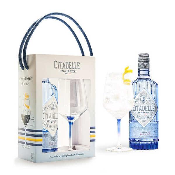 Citadelle Gin français Citadelle 44% coffret 1 verre - Bouteille 70cl + 1 verre