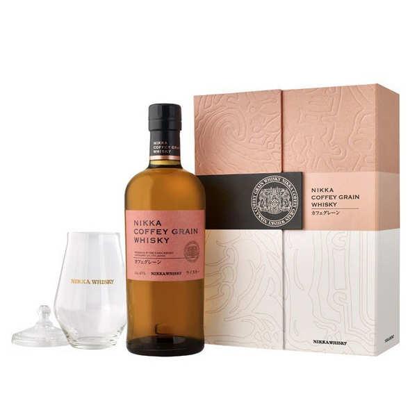 Whisky Nikka Coffret Whisky Nikka coffey Grain 1 verre 45% - Coffret bouteille 70cl + 1 verre