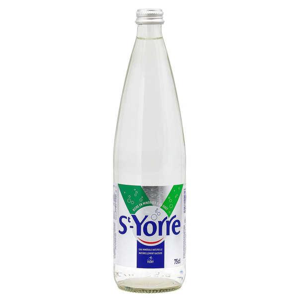 St-Yorre eau minérale naturelle gazeuse - Bouteille verre 75cl