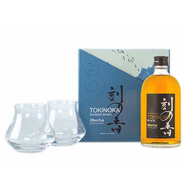 Tokinoka Whisky Black Tokinoka - Coffret 2 verres Warm -  50% - Bouteille 50cl + 2 verres