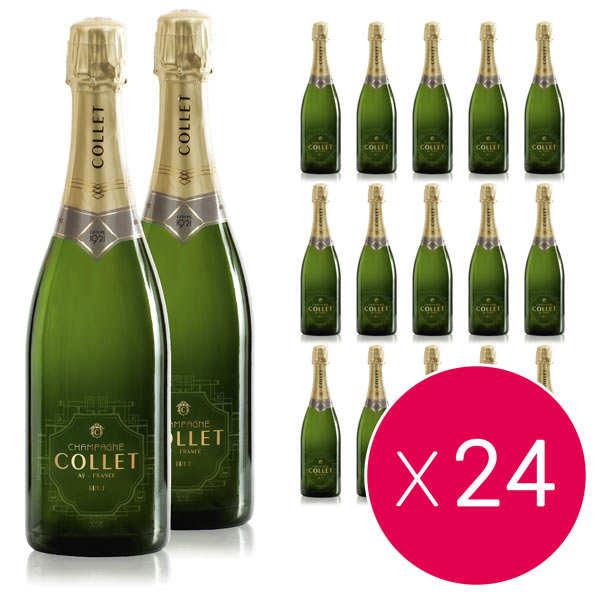 Champagne Collet 24 bouteilles Champagne Collet Brut - 24 bouteilles de 75cl