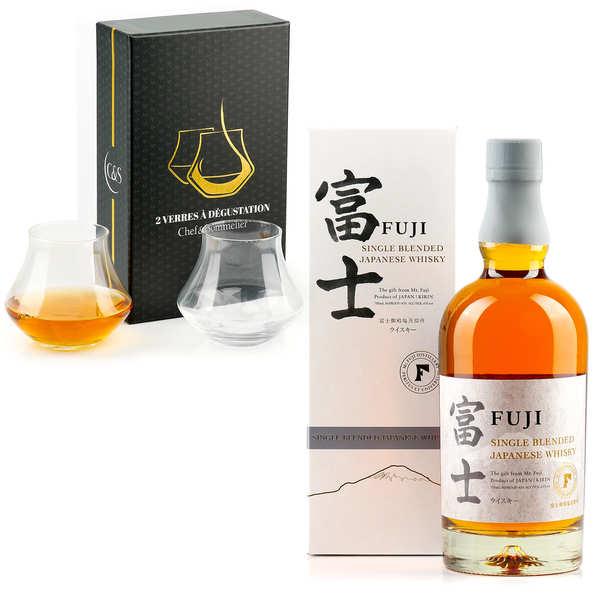 Kirin Brewery Kirin Fuji Sanroku - whisky japonais 50% et ses 2 verres - 1 bouteille de 70cl et 2 verres
