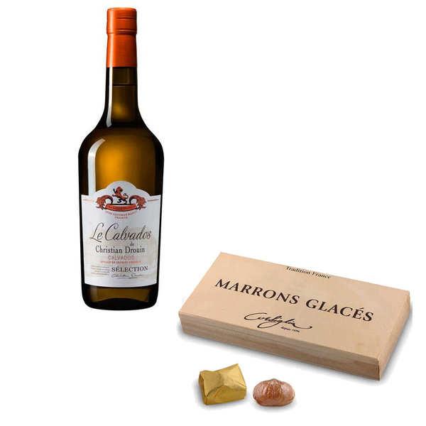 BienManger.com Marrons glacés Corsiglia & Calvados Christian Drouin - Marrons glacés et Calvados