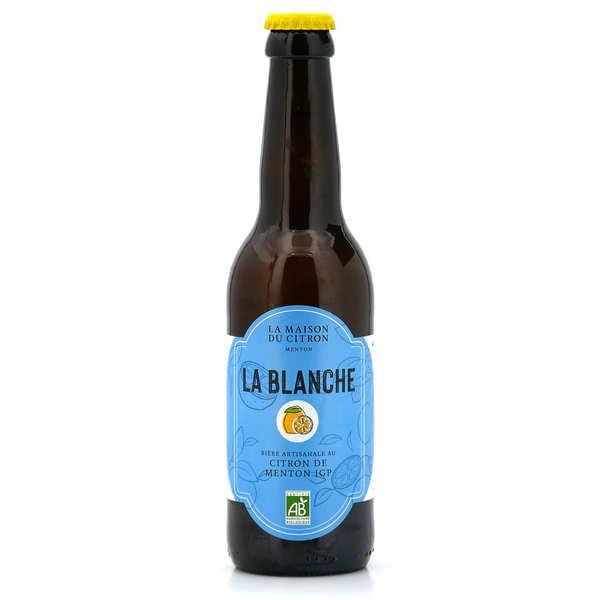 La Maison du Citron Bière blanche bio au citron de Menton - Lot de 3 bouteilles 33cl