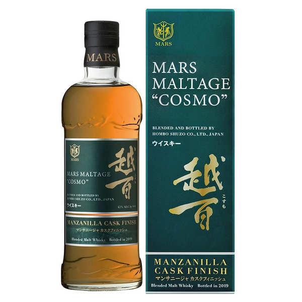 Mars Whisky Whisky Japonais - Mars Cosmo Manzanilla Finish 42 % - Bouteille 70 Cl + étui