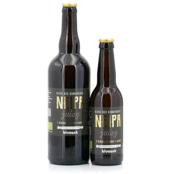 Les brasseurs de la Jonte Bière de Lozère Neipa Bio - New England IPA à la pêche de vigne 6° - Lot de 4 bouteilles 75cl