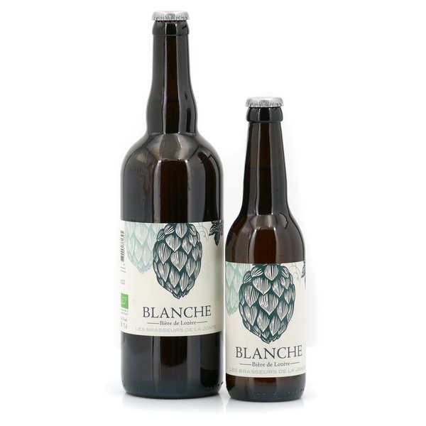 Les brasseurs de la Jonte Bière blanche bio de Lozère 5° - Lot de 3 bouteilles 75cl