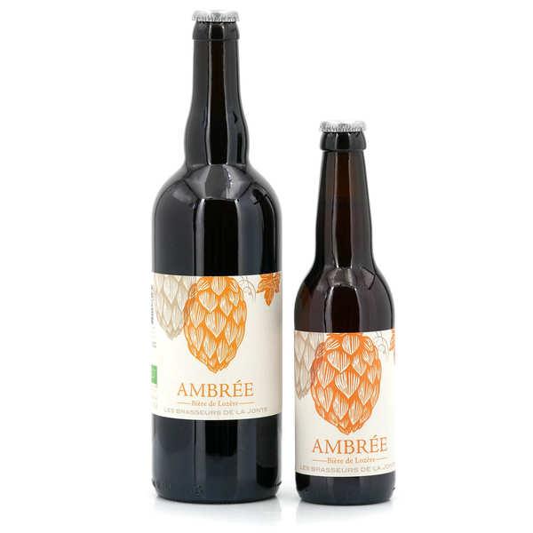 Les brasseurs de la Jonte Bière ambrée bio de Lozère 5.5% - Lot de 3 bouteilles 33cl