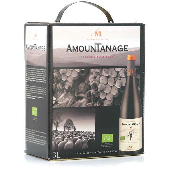 Marrenon Amountanage vin rouge du Lubéron bio en Bib 3L - Bag in Box 3L