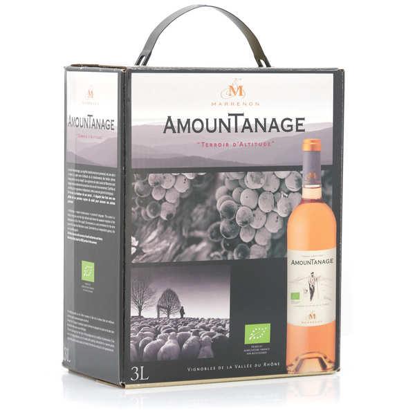 Marrenon Amountanage vin rosé du Lubéron bio en Bib 3L - Bag in Box 3L x 2