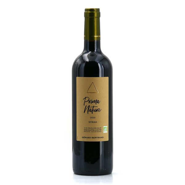 Gerard Bertrand Prima Nature Syrah vin rouge bio et sans sulfites ajoutés - 2020 - Bouteille de 75cl