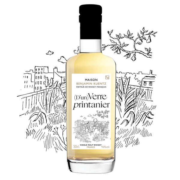Maison Benjamin Kuentz (D'un) Verre Printanier - Whisky Single Malt français 46% - Bouteille 50cl