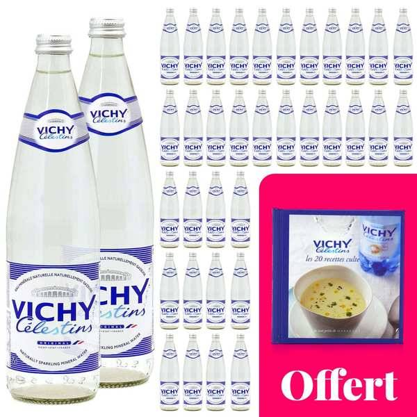 Vichy Célestins Vos recettes cultes avec Vichy Célestin : 36 bouteilles et un livre de recettes - 36 bouteilles de 75cl + 1 livre offert