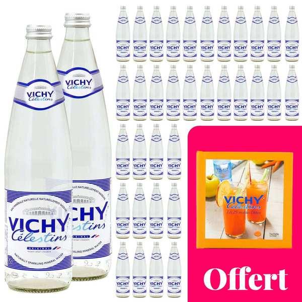 Vichy Célestins Votre cure détox avec Vichy Célestin : 36 bouteilles et un livre de recettes - 36 bouteilles de 75cl + 1 livre offert