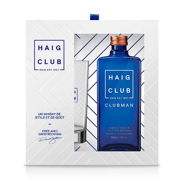 Haig Club Coffret cadeau Whisky Haig Club + 1 verre - Bouteille 70cl + 1 verre