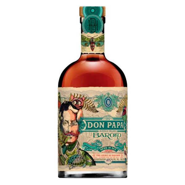 Bleeding heart rum company Don Papa Baroko 40% - Lot de 6 bouteilles 70cl