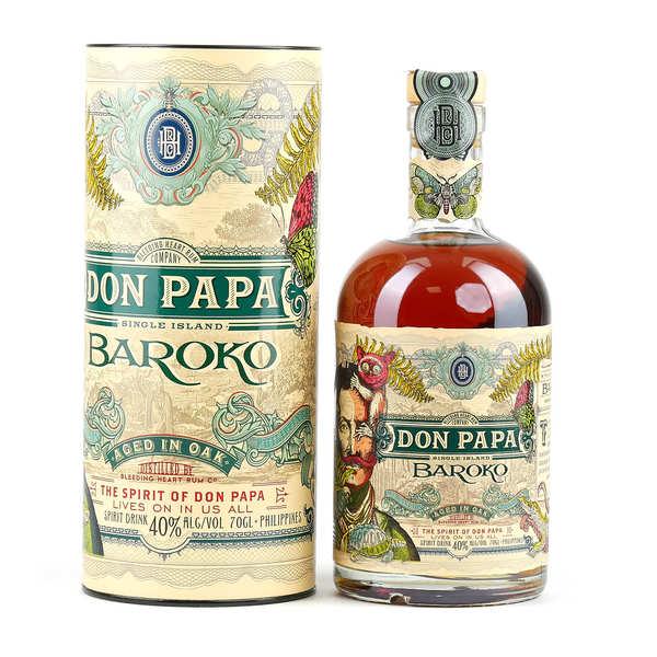 Bleeding heart rum company Don Papa Baroko 40% - Lot de 6 bouteilles 70cl